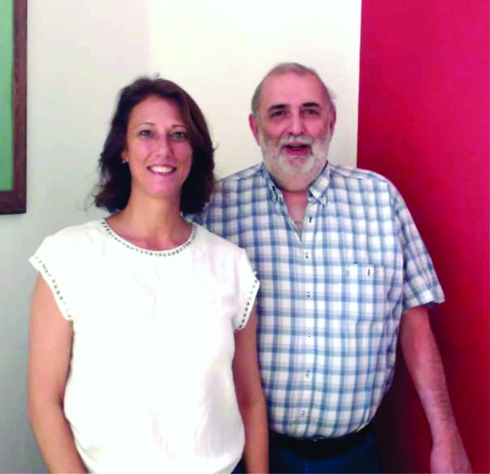 Sergio Pesce y Pamela Andriani